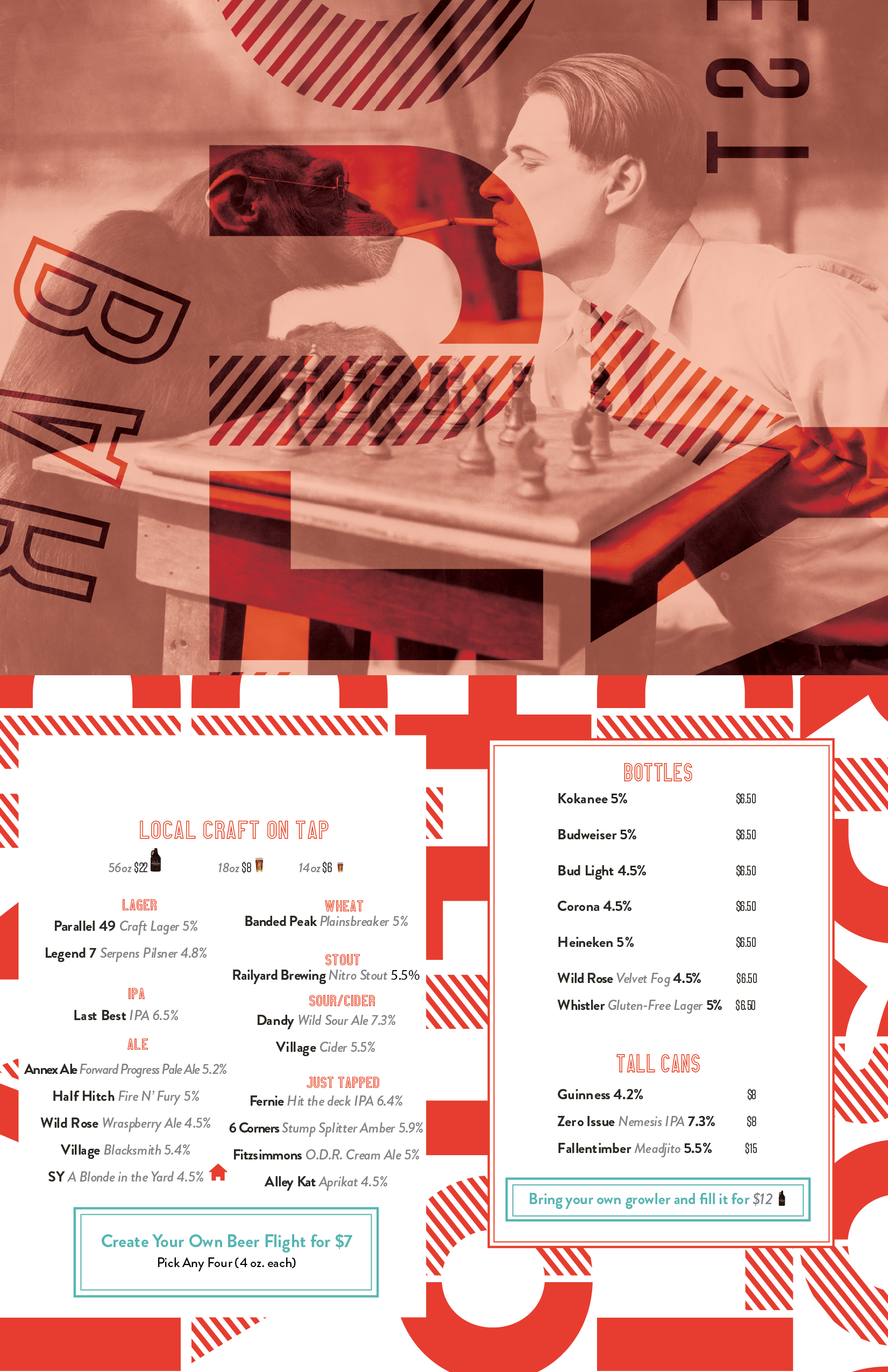Southland Yard Drinks Menu 2